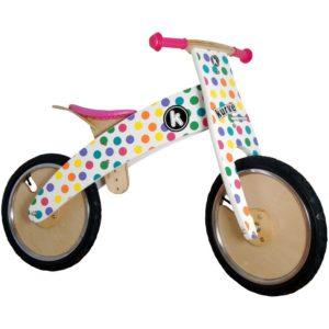 Kiddimoto Kurve Pastel Dotty balance bike